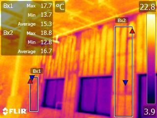 Thermal losses through the outer casing