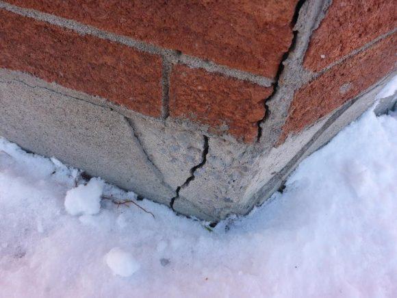 sols argileux, affaissement des murs de fondations