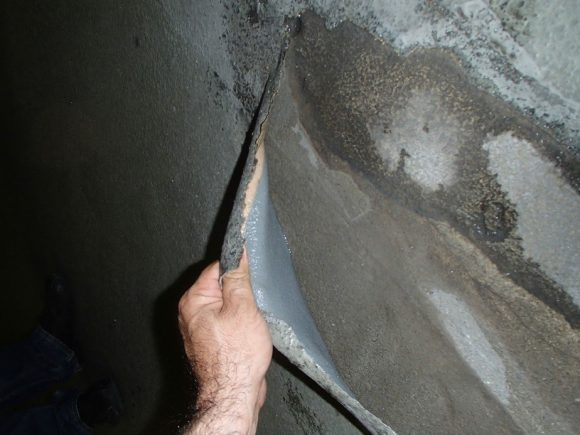 Membrane d'étanchéité de la dalle du garage